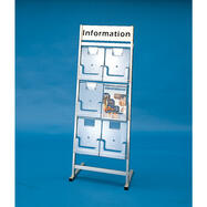 "6 Section Leaflet Stand ""Venus"" with Header"