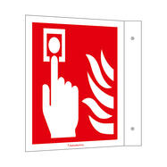 Fire Alarm (manual) Flag Sign