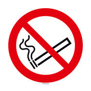 No Smoking Sign, round