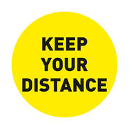 "Floor Sticker ""Keep Your Distance"""