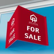 Estate Agent Board in PP Twin-Wall Sheet