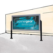"Bannergear™ Stand ""Concrete Base"", 2-sided"