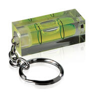 Spirit Level with Key Ring, green tube level