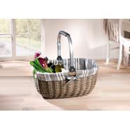 """Shopping Basket """"Grey Willow"""""""