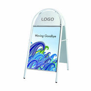 Outdoor Poster Stand with Semi-Circular Header