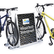 Bike Rack with Aluminium Click Frame in the Centre, 2 storage spaces