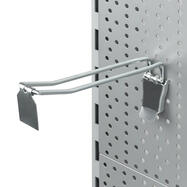 Pegboard Double Hook with Locking Device