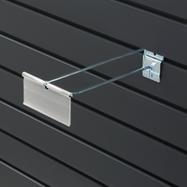 Slatwall Single Hook with Swinging Pocket
