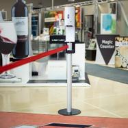 Disinfectant Dispenser for Barrier Stand