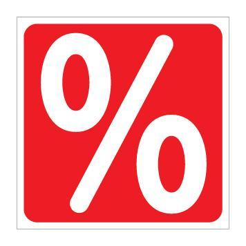 Sticker Percentage Sign, square