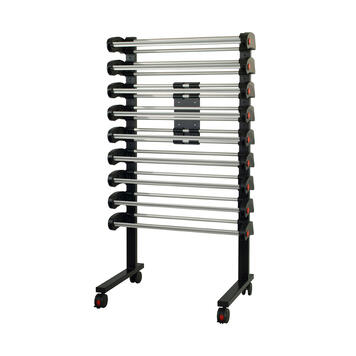 Multi-Vario Stand, moveable with 9 roll dispensers