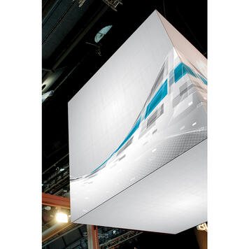 "Digitally Printed Banner for Stretch Frame System ""Cube"""