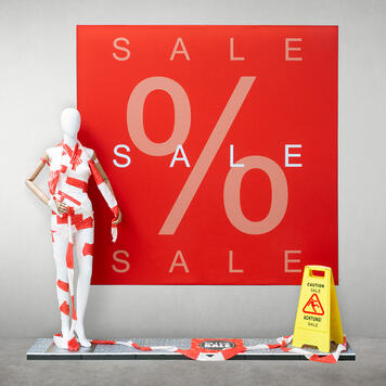 Stretchframe incl. SALE-Banner