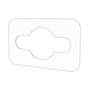 Adhesive Hook with Eurohole 0.25 mm