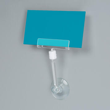 """Large Price Holder """"Sign Clip"""" with Suction Cup and Rod"""