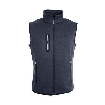 Men's knitted Fleece Waistcoat w/ stand-up Collar