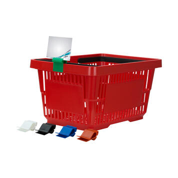 Display Clips for Crates and Baskets