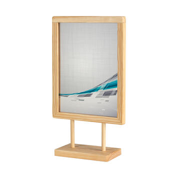 """Table-Top Poster Stand """"Kavero"""" made of Wood"""