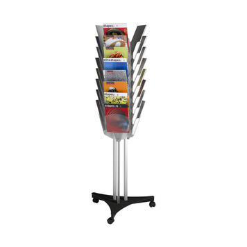 "Leaflet Stand ""Faceta"" - on wheels"