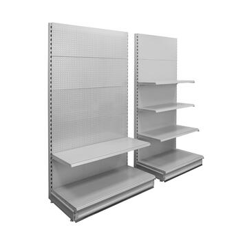 """Pegwall System """"Eden"""", metal Shelf with Pegboard Wall"""