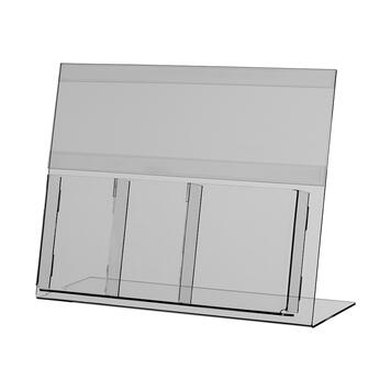 Leaflet holder with insert