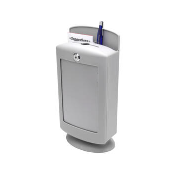 Suggestion Box in Plastic, light grey