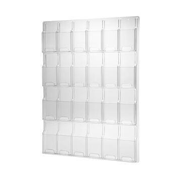 """24 Section Wallmounted Leaflet Holder """"Deluxe"""" ⅓ A4"""