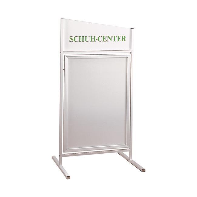 Swinging Poster Stand in Aluminium