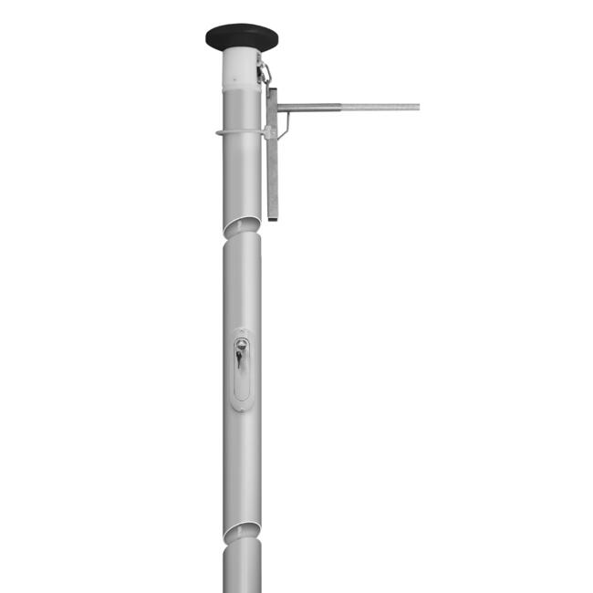 Crossbar Flagpole with Rotating and Hoistable Crossbar