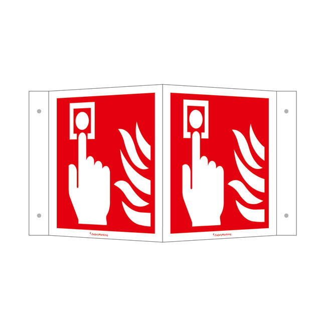Fire Alarm (manual) Angled Sign