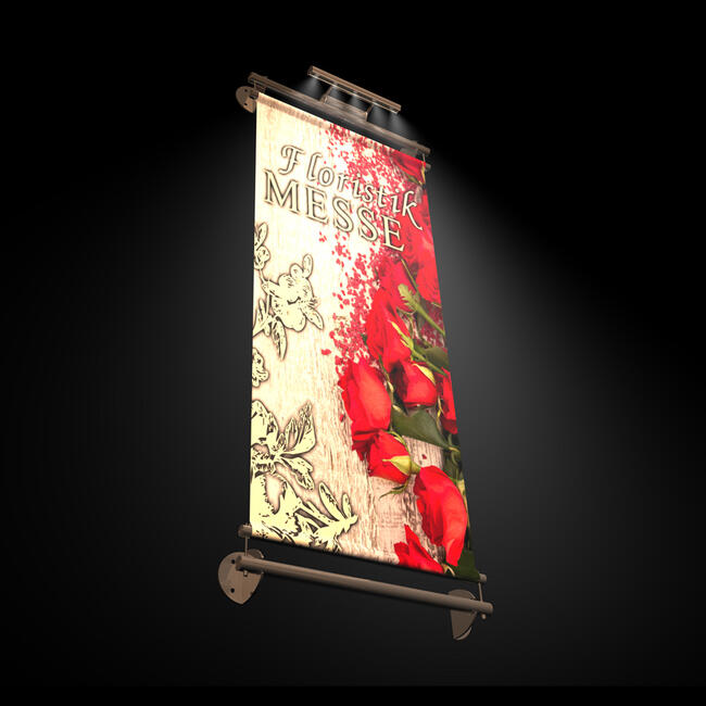 """Banner Holder INOX """"Wall LED Light"""""""