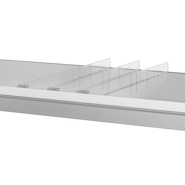 """Shelf Divider """"ROS"""" range, Height 25 mm, without stopper"""