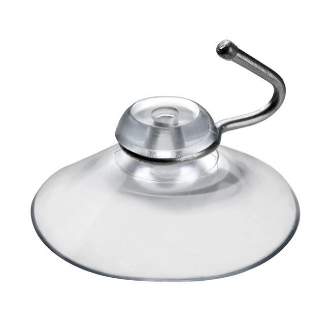 """Suction Cup with Hanging Hook """"Metal"""""""
