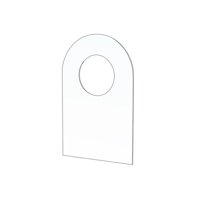 Adhesive Hook with ø 10 mm Round Hole for Blister Packs