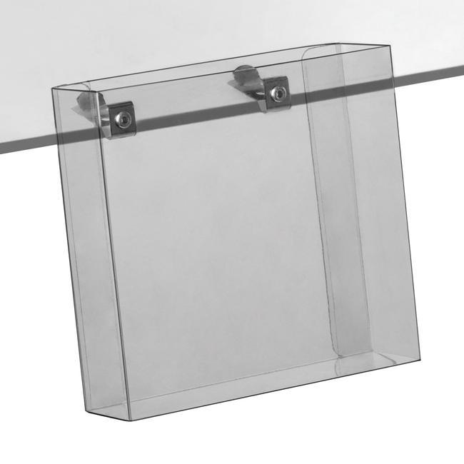 Shelf Edge Leaflet Holder for Glass & Wooden Shelves