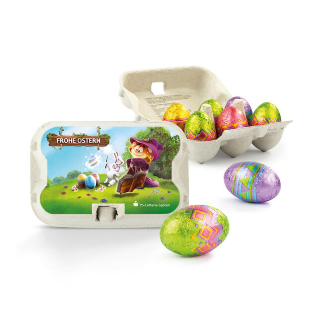 Easter Sixpack With Milk Chocolate Eggs Shop Online Now Vkf Renzel Uk