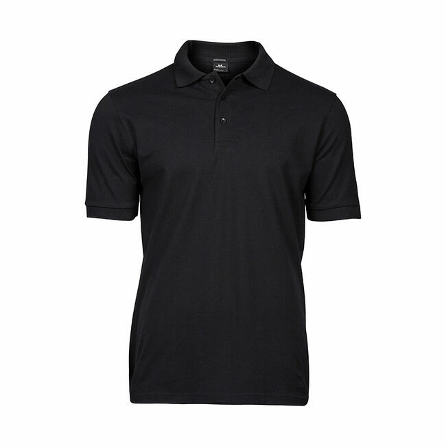 TEE JAYS Men's Heavy Luxus Pique Strech Polo