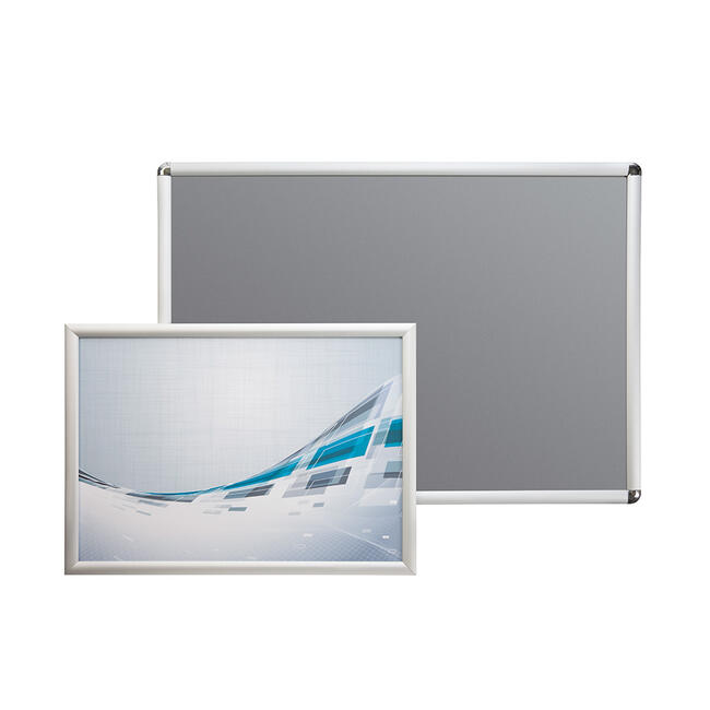 Click Frame, 25 mm profile, silver anodised, mitered or round corners