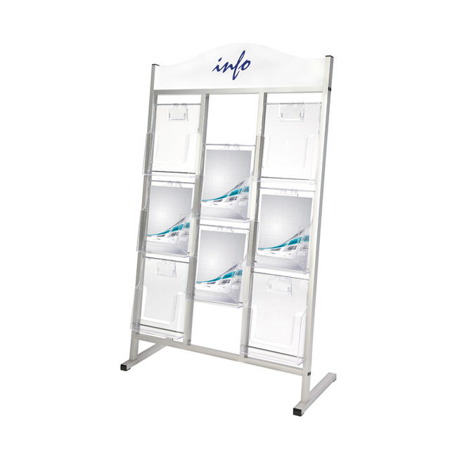 """8 Section leaflet Stand """"Saturn"""" with Header"""
