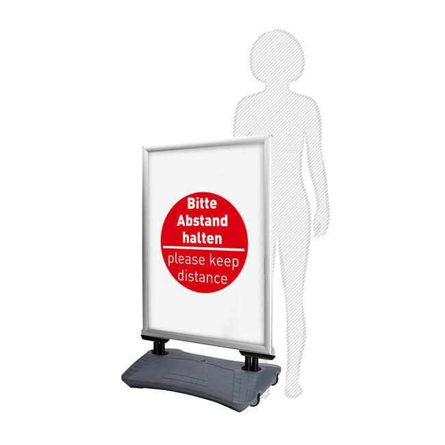 """Rainwater-proof Poster Display WindSign """"Seal"""" with various posters"""