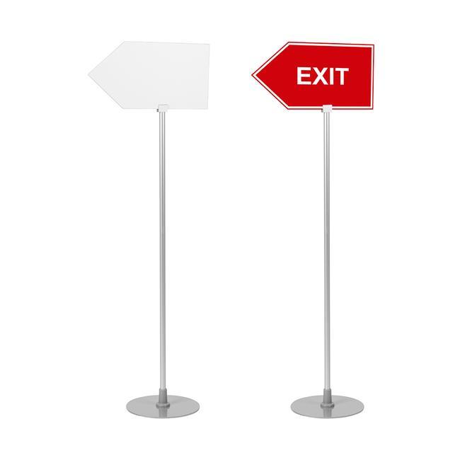 """Information Stand """"Como"""" arrow-shape"""