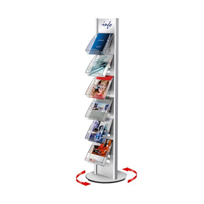 "Rotating Leaflet Stand ""Tec-Art Premium"" - Frame Only"