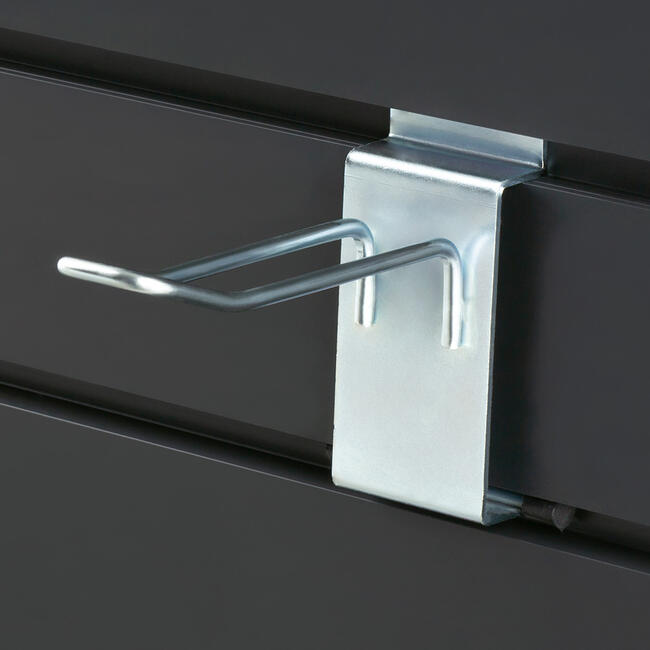 Slatwall Double Hook with Locking Device