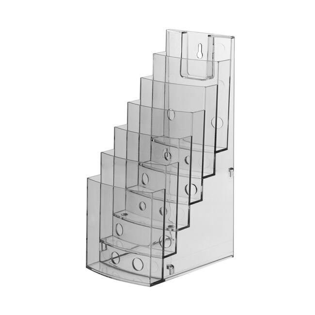 "3-tier or 6-tier Leaflet Dispenser ""Vicia"", sideways extendable"