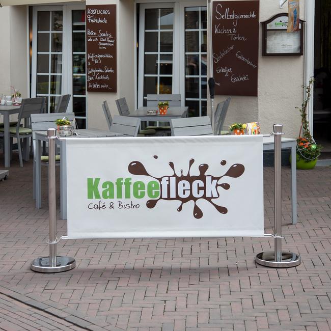 """Banner for Barrier System """"Café"""""""