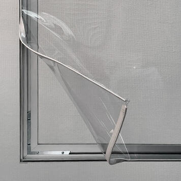 Aluminium Stretch Frame Partition Wall incl. crystal clear PVC Banner