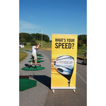 """Outdoor Roll Up Banner """"Double-Out"""""""