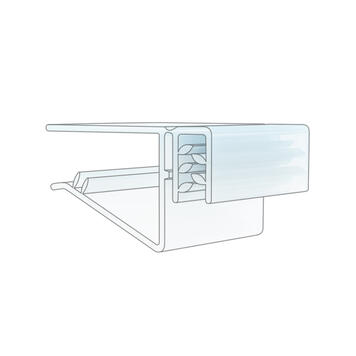 Sign Gripper with Hinge for Shelves up to 19 mm Thick