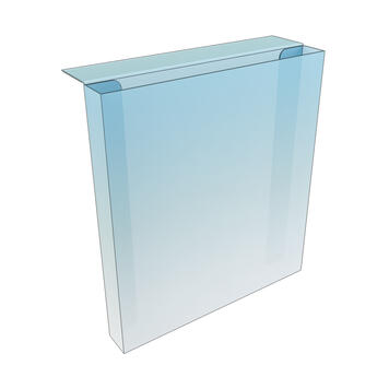 PVC Shelf Edge Leaflet Holder - with adhesive tape