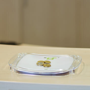 Acrylic Cash Dish for Paper Inserts